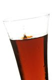 Glass with cola. On the white background Stock Photos