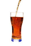 Glass of cola. On white ground stock photography