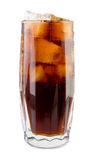 Glass of cola Stock Photos
