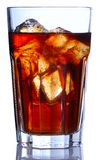 Glass with cola Royalty Free Stock Image