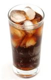 Glass of cola drink royalty free stock images