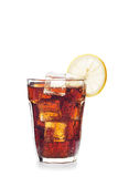 Glass of cola drink Stock Images