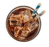 Glass of cola drink with ice Stock Photo