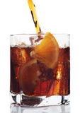 Glass of cola drink Royalty Free Stock Photo