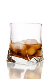 Glass of cola with ice Royalty Free Stock Image