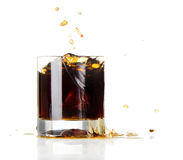 Glass of Cola and Ice Royalty Free Stock Image