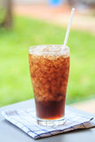 Glass of cola with ice Stock Image