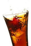 Glass with cola and ice Stock Photography