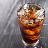 Glass of cola with ice and copyspace in compositio Stock Photo