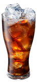 Glass of cola with ice cubes Stock Photography
