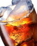Glass of cola with ice cubes Stock Image