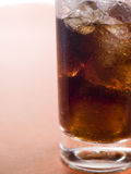 Glass of Cola with Ice Cubes Royalty Free Stock Photos