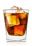 Glass of cola with ice Stock Photos