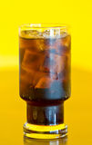 Glass Of Cola With Ice. Stock Photos