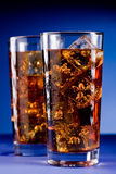 Glass of Cola with Ice Royalty Free Stock Photos