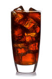 Glass of cola isolated royalty free stock photography