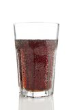 Glass of cola isolated on white background Stock Photography