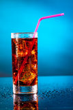Glass of cola Royalty Free Stock Image