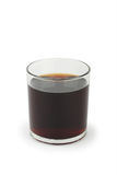 Glass of cola on white Stock Image