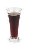 Glass of cola on white Stock Photos