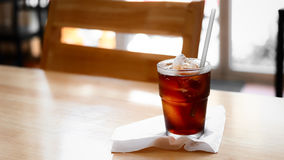 A glass of cola. Royalty Free Stock Image
