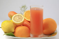 Glass of cold  ACE juice Royalty Free Stock Photography