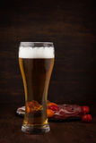 Glass of cold beer Royalty Free Stock Photography