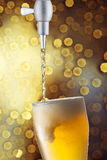 Glass of cold beer Royalty Free Stock Images