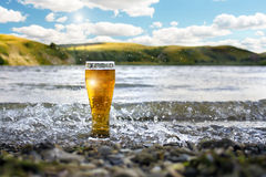 A Glass of Cold Beer Stock Photography