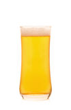 Glass of Cold Beer on White background Royalty Free Stock Photo