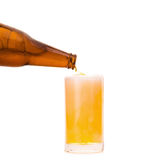 Glass of Cold Beer on White background Royalty Free Stock Image