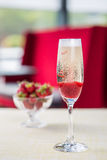 Glass of cold champagne Stock Image