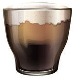 A glass of cold coffee Stock Images