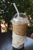 Glass Of Cold Coffee Royalty Free Stock Photos