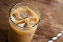 Glass Of Cold Coffee Stock Photo