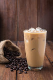 Glass Of Cold Coffee On Wood Royalty Free Stock Image