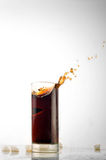 Glass with cold drink Royalty Free Stock Images