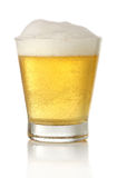 Glass of cold and fresh golden beer Royalty Free Stock Image
