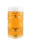 Glass of cold and fresh golden beer Royalty Free Stock Images