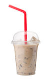 A glass of cold Ice coffee with milk Royalty Free Stock Photo