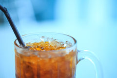 Glass of cold ice tea Stock Photography