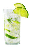 Glass of cold lemonade with ice Royalty Free Stock Photography