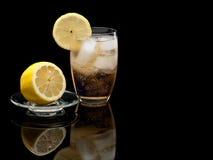 Glass of cold lemonade Stock Image