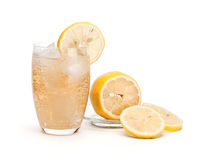 Glass of cold lemonade Stock Photo
