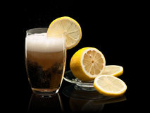 Glass of cold lemonade Royalty Free Stock Images