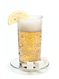 Glass of cold lemonade Stock Photography