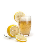 Glass of cold lemonade Royalty Free Stock Photos