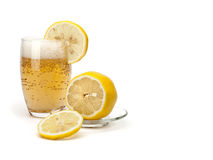 Glass of cold lemonade Royalty Free Stock Photo
