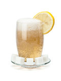 Glass of cold lemonade Royalty Free Stock Image