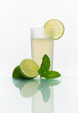 Glass with cold lemonade Royalty Free Stock Photo
